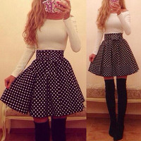 New Fashion Lady Women's Casual Long Sleeve Off-shoulder Sexy Mini Dress