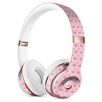 Micro Pink Hearts Over Pale Pink Full-Body Skin Kit for the Beats by Dre Solo 3 Wireless Headphones