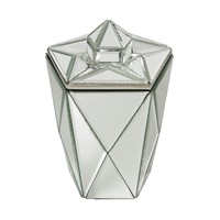 Mirrored Jewel Canister Mirror