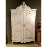 Delphine Distressed Shabby Chic Armoire
