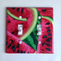 Watermelon Double Toggle Switchplate, decor