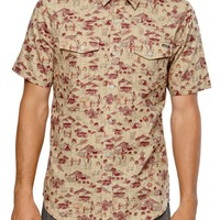 Volcom Cairo Short Sleeve Woven Shirt - Mens Shirts - Tan