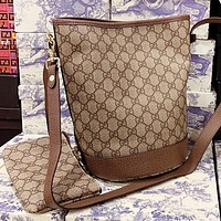 GUCCI New fashion more letter canvas shoulder bag crossbody bag bucket bag two piece suit