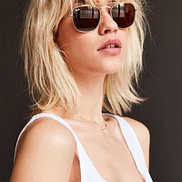 Ray-Ban Double Bridge Aviator Sunglasses - Urban Outfitters