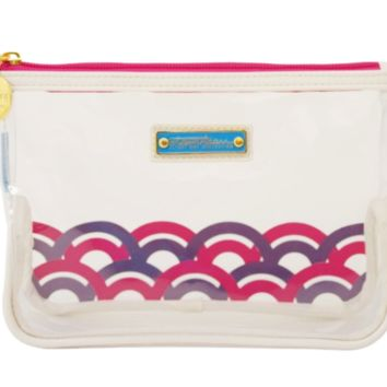 Berry Clear Carry On Quart Cosmetic Bag