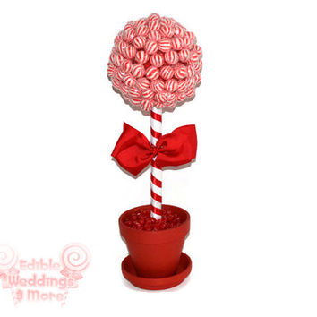 Red Lollipop Topiary, Red Candy Topiary, Red Wedding Centerpiece, Red, Wedding, Centerpiece, Candy Buffet, Lollipop, Candy, Red Wedding