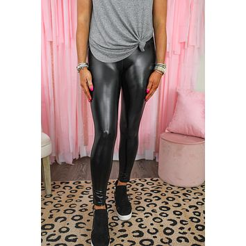 Memphis Faux Leather High Waisted Leggings