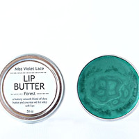 green LIP TINT. lip balm / lip cream - forest
