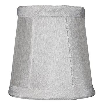 """4""""W x 4""""H Gray Stretch Clip-On Candlelabra Clip-On Lamp shade"""