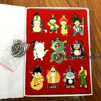 Anime Dragon Ball Pilaf Kaio Kame Sennin Son Goku Gohan Tien Shinhan Chiaotzu Karin-sama figure pendant Fashion Necklace keyring