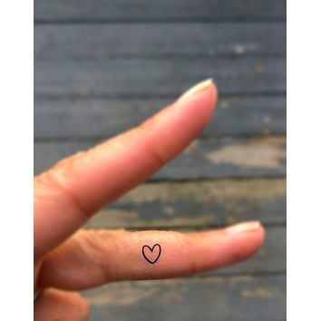 Heart Outline Tattoos 20 Tiny Hearts Fake Faux Temporary Tattoos Mini Small Cute