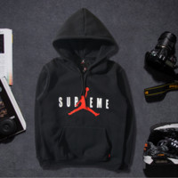 Autumn and winter tide brand new men 's sweater men' s leisure sports cotton Hooded sets of lovers sweater