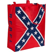 "Rebel Flag Tote Bag With 12""x18"" Flag"
