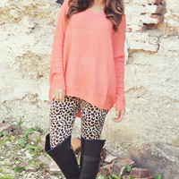 By The Campfire Sweater: Peach