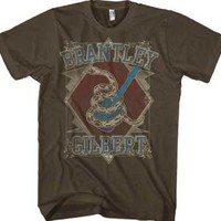 New! Brantley Gilbert Coiled Snake Guitar Country Rock Licensed Adult T-Shirt