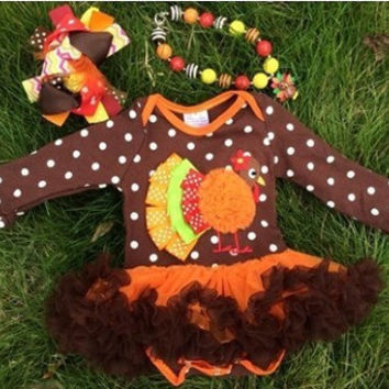 PRE - ORDER Baby Girls First Thanksgiving Outfit, Thanksgiving Tutu, Turkey Onsie, Thanksgiving bow