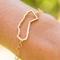 Gold Outline California Bracelet