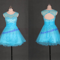 2014 blue tulle bridesmaid dress with sequins,short cheap homecoming dresses under 100,stunning women gowns for holiday party hot.