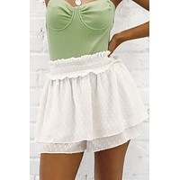 All Natural Layered Ruffle Shorts