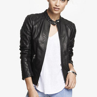 (MINUS THE) LEATHER QUILTED SLEEVE JACKET from EXPRESS