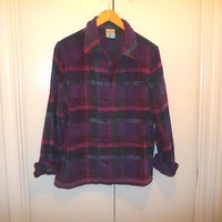Purple Grunge Flannel Blouse