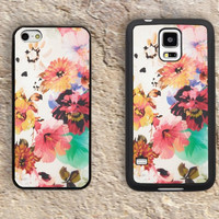 Floral iPhone Case-flower iPhone 5/5S Case,iPhone 4/4S Case,iPhone 5c Cases,Iphone 6 case,iPhone 6 plus cases,Samsung Galaxy S3/S4/S5-083