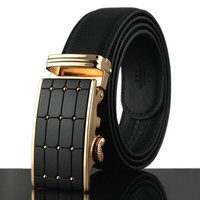 Fashion Style Nice Quality Luxury Brand mens Genuine Leather belts for men,strap male metal Automatic buckle,cintos feminiosQ177