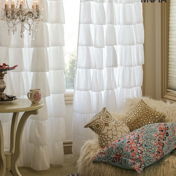 Aeropostale  Ruffle Curtain Set