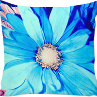 Blue Flower Couch Pillow