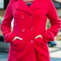 The Christy Coat, Red