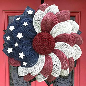 American Patriotic Independence Day Wreath