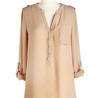 ModCloth Military Mid-length 3 Multifaceted Me Top