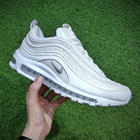 Nike Air Max 97 OG White Wolf Grey Summer Scales Running Shoes Sport Shoes 921522-100