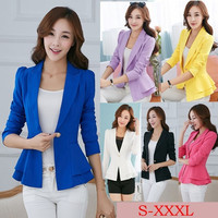 2014 Fashion Women Spring Suit Blazers Female Blazer Korean Plus Size Candy Color Leisure Style Full Casual blazer = 1932237956