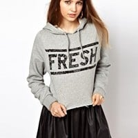 Illustrated People Fresh Cropped Hoody at asos.com
