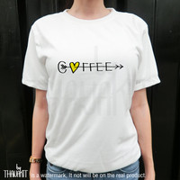 Coffee Fall in Love TShirt - Tee Shirt Tee Shirts Size - S M L XL 2XL 3XL