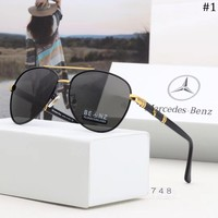 Mercedes Benz trend men's large frame driving retro polarized sunglasses #1