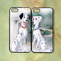 Pongo and Perdita Couple Case UP-iPhone 5, iphone 4s, iphone 4 case, ipod 5, Samsung GS3-Silicone Rubber or Hard Plastic Case, Phone cover