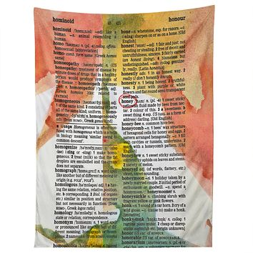 Susanne Kasielke Honey Dictionary Art Tapestry