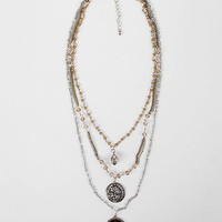 BKE Embossed Charm Necklace
