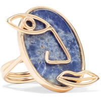 Paola Vilas - Pablo gold-plated sodalite ring