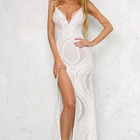 With Love Maxi Dress White