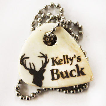 """Personalized """"Buck"""" Necklace"""