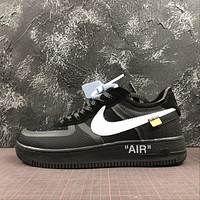 Off White x Nike Air Force 1 Low Black 2.0 AF1 Sport Shoes
