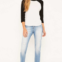Cheap Monday Donna Air Blue Straight Leg Jeans - Urban Outfitters