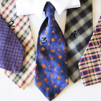 Neck Tie for Dogs:  Dog Clothes Pet Neckwear Plaid Multiple Colors You Choose One