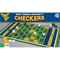 West Virginia Mountaineers Masterpieces Checkers Set (Wvu Team)