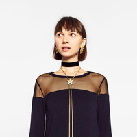 CHOKER AND LONG NECKLACE WITH STAR PACK DETAILS