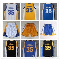 The City 35 Kevin Durant Yellow Blue Throwback Jerseys,White Blue Yellow Black Kevin Durant Jerseys Top Quality Stitching Sports Jerseys