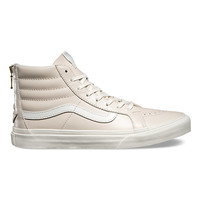 Leather SK8-Hi Slim Zip | Shop Womens Shoes at Vans
